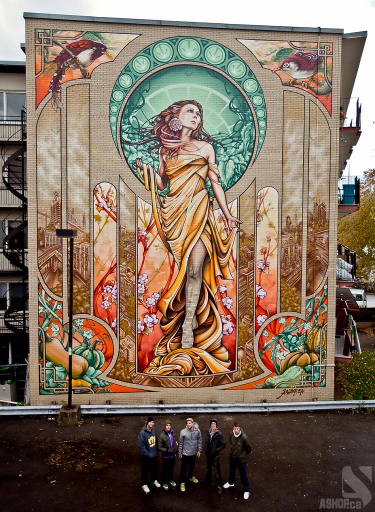 Alphonse mucha inspires cbrajkovich ramblings for Art nouveau mural